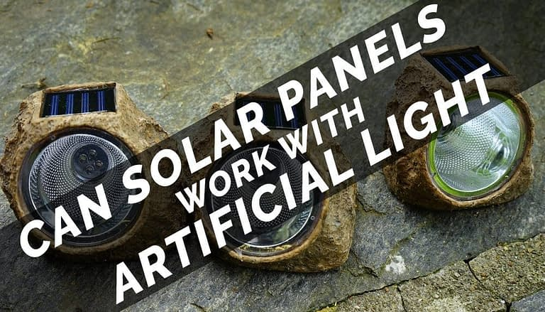 can solar panels work with artificial light