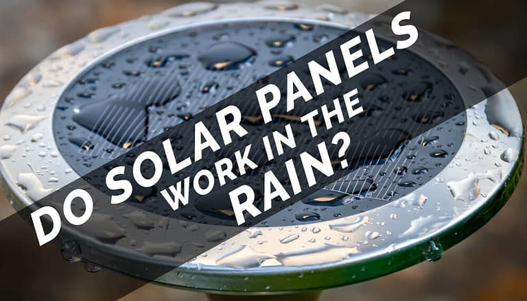 do solar panels work in the rain